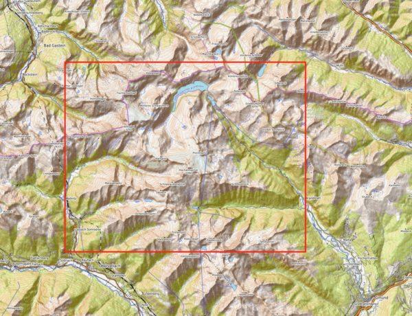 Kartenausschnitt Ankogelgruppe